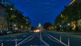 Велосипед майна на DC Вашингтона ночи, ярком стоковая фотография