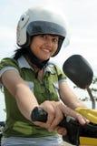 велосипед милая женщина Стоковое Фото