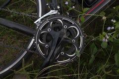 Велосипед на траве стоковые изображения