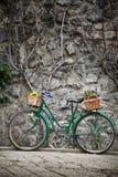 велосипед образовывает сбор винограда цветков Стоковая Фотография