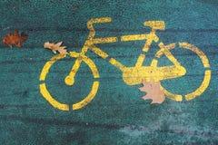 велосипед осени Стоковое Фото