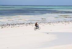 велосипед пляжа красивейший Стоковые Изображения RF