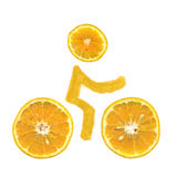 велосипед померанцы Иллюстрация вектора