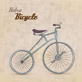 Велосипед сбора винограда ретро иллюстрация штока