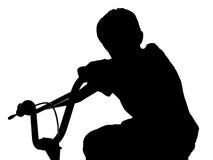 велосипед силуэт Стоковое Фото