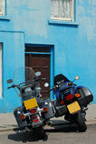 велосипед стена сини 2 Стоковое фото RF