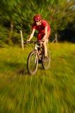велосипед гора человека Стоковое Изображение