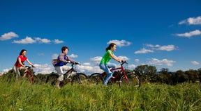 Велосипедисты Стоковые Изображения