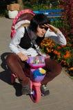 велосипедист смешной Стоковое фото RF