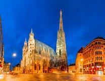 Вена, Австрия, Европа: Собор St Stephen или Stephansdom, Stephansplatz стоковые изображения rf