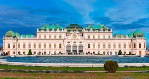 Вена, Австрия: Красивый вид известного бельведера Schloss или верхнего бе стоковая фотография