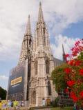 Вена, Австрия - 13-ое августа 2018: Votive церковь, нео-готическая церковь, втор-самая высокорослая церковь в Вене стоковая фотография