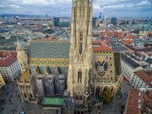 ВЕНА, АВСТРИЯ - 10-ОЕ ОКТЯБРЯ 2016: Крыша собора ` s St Stephen, вены, Австрии Стоковые Изображения