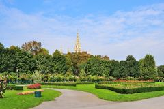 Вена, парк Folksgarten Стоковые Изображения RF