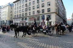 Вена - столица Австрии Согласно результатам торговец текстилём агенства исследования, вена приняла первое место в мире для качест стоковые фото