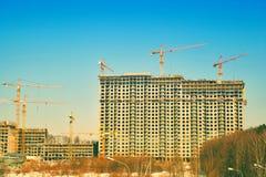 вена строительной площадки здания конструкция здания новая Стоковые Изображения RF
