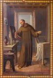 Вена - фреска гектолитра Запас Simon Josef Kastner 1906 до 1911 в церков Carmelites в Dobling Стоковое фото RF