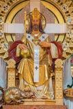 Вена - Христос статуя короля архитектором Ричардом Джорданом и художником Ludwig Schadler от года 1933 в церков Carmelites Стоковое Изображение RF