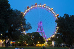 Вена, Prater, гигантское колесо Стоковые Изображения RF