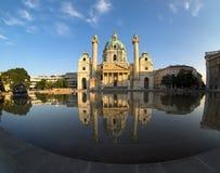 вена st charles собора стоковое изображение rf