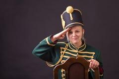 Венгерская женщина Гусара стоковое фото