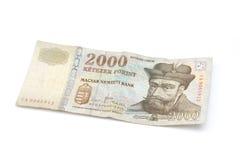 Венгерская кредитка Forint - 2000 HUF Стоковое Изображение