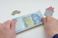 Венгерские деньги, форинт Стоковое Фото