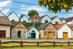 Венгерские дома и подвалы вина стоковые изображения