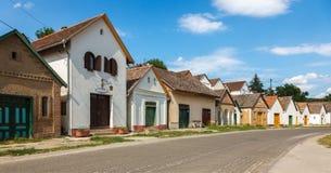 Венгерские дома и подвалы вина стоковое изображение rf