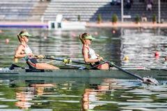 Венгерские спортсмены на rowing конкуренции чашки мира гребя Стоковые Изображения RF
