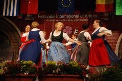 Венгерский ансамбль традиционной танцульки Стоковые Фото