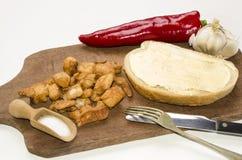 Венгерский завтрак с хлебом и поножами Стоковые Изображения RF