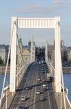 Венгерский мост Elisabeth Стоковое фото RF