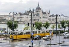 Венгерский парламент в Будапешт, Венгрии Стоковые Фотографии RF