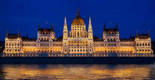 Венгерский парламент в Будапешт, Венгрии Стоковые Изображения