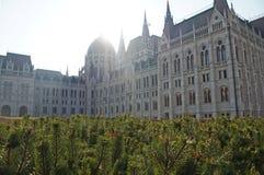 Венгерский парламент окружен парком осени Стоковые Фото