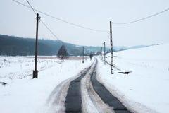 Венгерский сельский ландшафт в зиме стоковая фотография rf