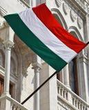 Венгерский флаг на стене Стоковые Изображения RF