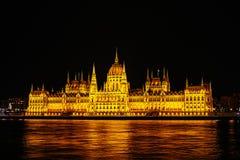 Венгерское здание парламента, Будапешт, Венгрия Стоковые Изображения RF