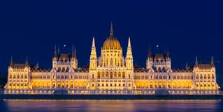 Венгерское здание парламента - Будапешт Стоковая Фотография RF