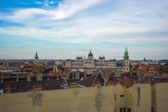 Венгерское здание парламента в городе Будапешта, Венгрии Стоковые Фотографии RF