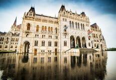 Венгерское здание парламента Стоковые Фотографии RF