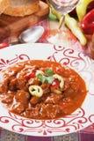 Венгерское тушёное мясо гуляша говядины Стоковое фото RF