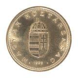 Венгерское foint монетки Стоковое фото RF