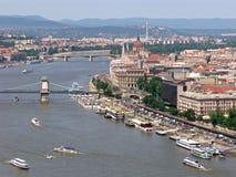 Венгрия панорама budapest Стоковое Фото