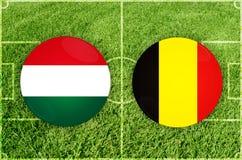 Венгрия против Бельгии Стоковая Фотография