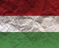 Венгрия скомкала флаг текстурированный бумагой - Стоковое Изображение RF