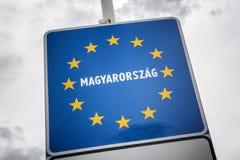Венгрия - член Европейского союза Стоковая Фотография