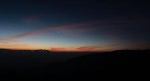 Венера, ночное небо, Гималаи, Непал, космос, восход солнца, заход солнца, планета Стоковые Изображения RF