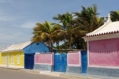 Венесуэла, взгляд на рыбацком поселке Adicora Стоковое фото RF